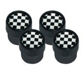 DA1437 - Dust Cap, Chequered Flag design with Black Outer