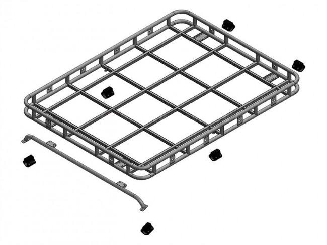 safety devices explorer roof rack 90 110 with roll cage full rail devon 4x4 da4723 brp. Black Bedroom Furniture Sets. Home Design Ideas