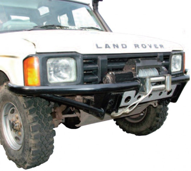 Winch Bumper With Led Lights By Rovers North For Discovery: Britpart Discovery 1 Tubular Winch Bumper