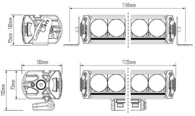 lazer triple-r 24 led spotlight - devon 4x4