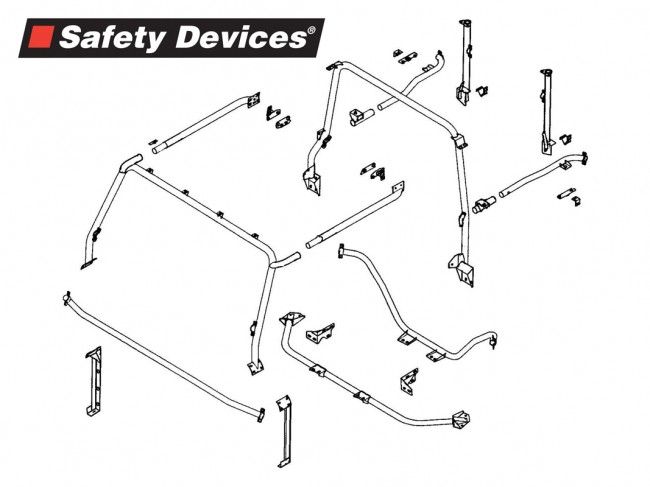 safety devices defender 90 external    internal roll cage