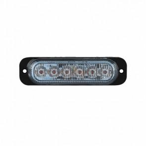 Durite R65 Amber High Intensity 6-LED Warning Light - 12/24V