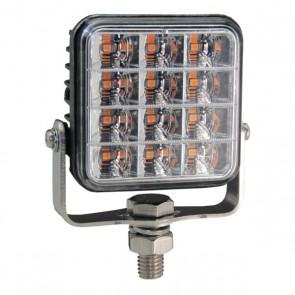 Durite R65 Square 12-LED Amber Warning Light - 12/24V