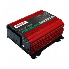 Durite Sine Wave Voltage Inverter 12 Volts DC To 230 Volts AC 600 Watts