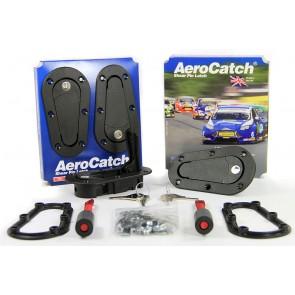 Aerocatch Bonnet Catch Kit Locking - Black