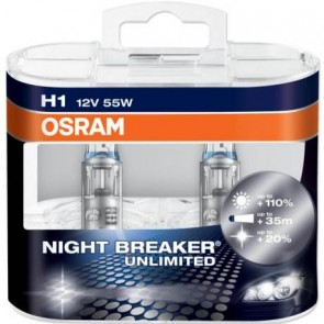 H1 Osram NightBreaker Unlimited Bulb Set