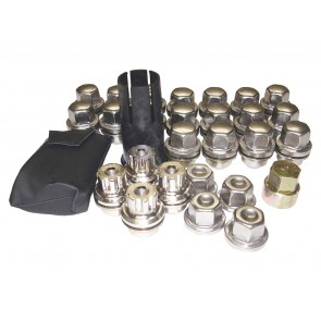 STC50080 Wheel Nut Set Alloy x4 Discovery 2 With Locking Nuts