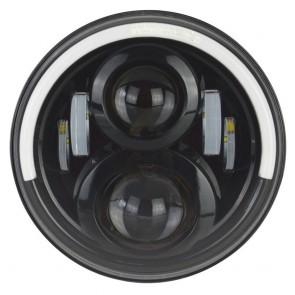 "7"" Aurora LED Headlight RHD With Halo"