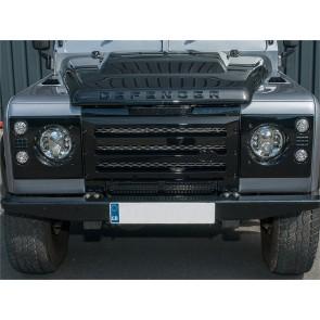Britpart Defender Grille XS Set  - Black With Silver Mesh