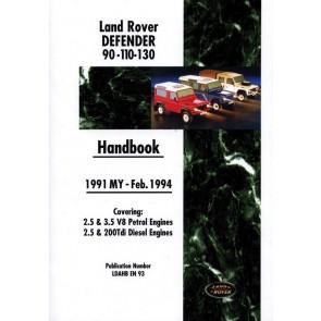 DA3162 Defender Handbook 1991 - 1994