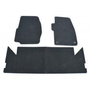 Carpet Mat Set - Discovery 1 - Black - Front / Rear