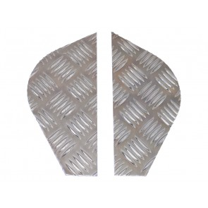 "Britpart Chequer PLate Rear Corners For 88"" Series"