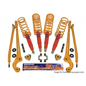 "Britpart Cellular Dynamic Suspension Kit 40mm Heavy Duty Defender 110 (from 94) +5"" Shocks"