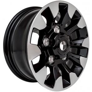 "Limited Edition Diamond Cut Sawtooth Alloy Wheel - Black Gloss 18"""