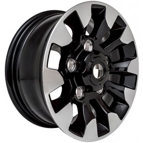"Limited Edition Diamond Cut Sawtooth Alloy Wheel - Black Gloss 16"""