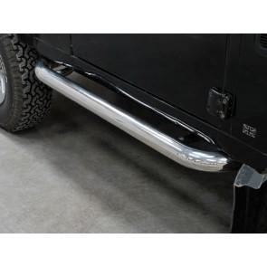 Defender 90 Side Protector Tube Set - Stainless
