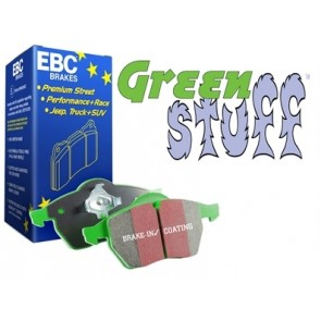 EBC Green Stuff Brake Pads suits Defender 90 - from 1994, Discovery 1 - with sensor and Range Rover Classic - up to 1985