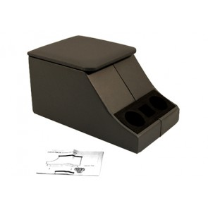 Cubby Boxes Black Leather Lid