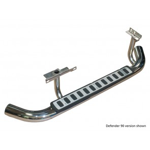 Defender 110 Fire & Ice Side Steps 2003 On Stainless