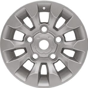 LR025862NHM Defender 16x7 Sawtooth Alloy Wheel - Silver