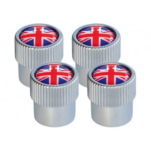 Valve Cap Set - Red & Blue Union Jack