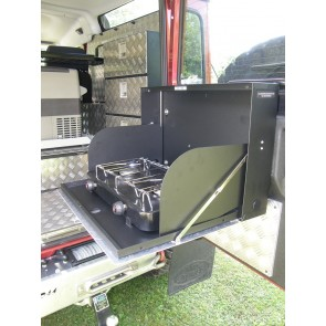 Mobile Storage Cooker Housing