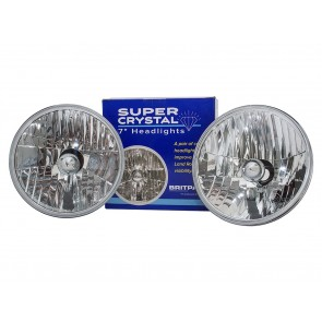 "7"" Crystal Halogen Headlamp Set LHD"