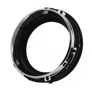 Headlamp Mounting Set - Chrome Bezal