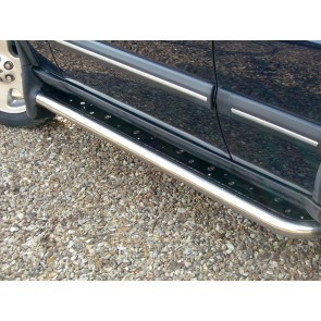 Discovery 2 Stainless Side Step Kit With Mud Flap