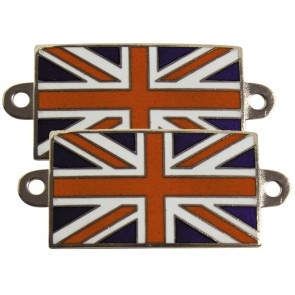 Bolt on Enamelled Union Jack Badges - Colour