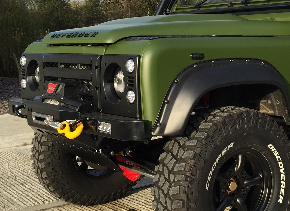 D44 Defender High Mount Bumper For Lowline Winch
